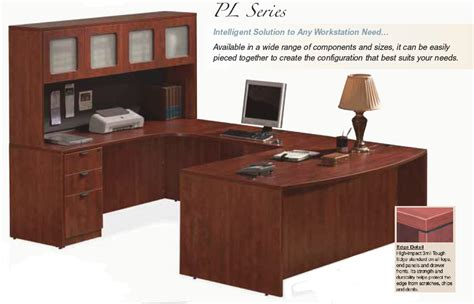 home office u shaped desk hutch whitevan