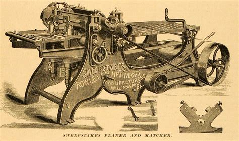 Woodworking Tool Sweepstakes - 1879 print sweepstakes planer matcher antique rowley hermance woodworking tool ebay