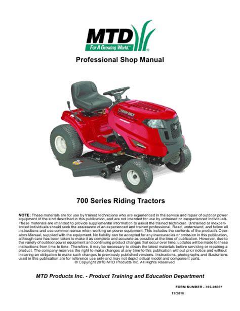 service manual mtd 700 series lawn tractor english