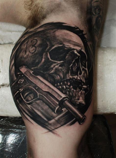 bullet tattoo skull colt bullet hammersmithtattoo west