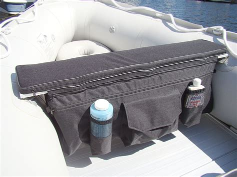 boat bench seat storage under seat storage bags and seat cushions for inflatable