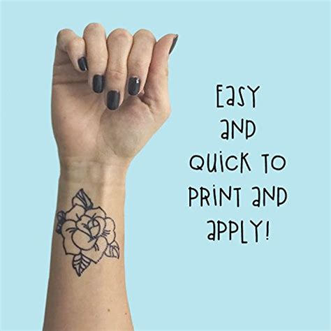 temporary tattoo printer ink tattify diy temporary tattoo paper 2 pack for inkjet