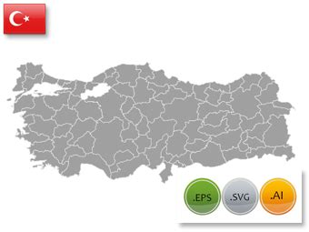 turkey map vector powerpoint vector map of turkey editable