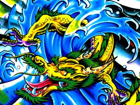 coloured dragon tattoo designs awesome colored design