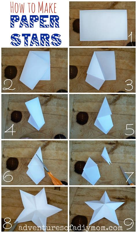 How To Make 3d Out Of Paper - how to make 3 d paper adventures of a diy