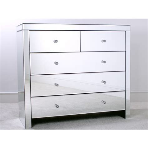 Mirrored Bedroom Chest Of Drawers by Mirrored 2 3 Chest Of Drawers