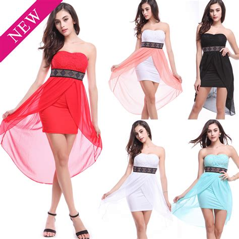 pictures of short jagged in front and long in back 2015 summer women dress chiffon lace dresses short front