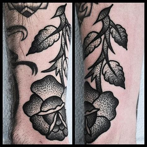 pepper shade tattoo stipple shading flower by mike ideas