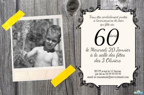 60 ans cartes et invitations gratuites 123 cartes