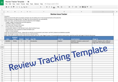 Course Review Tracking Template Experiencing E Learning Word Document Review Template