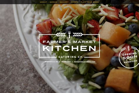 Kitchen Design Websites by Farmer S Market Kitchen Catering Co One Page Website Award