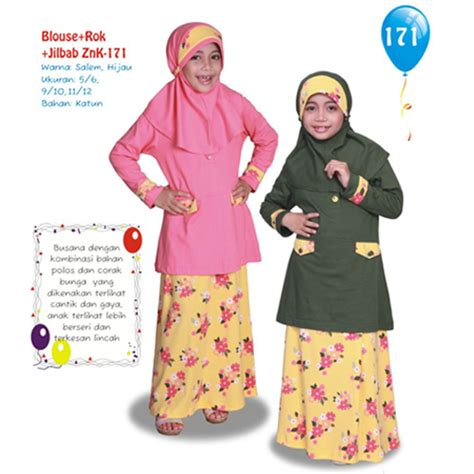Zenitha Znk 167 Gamis Anak at tien collection zenitha