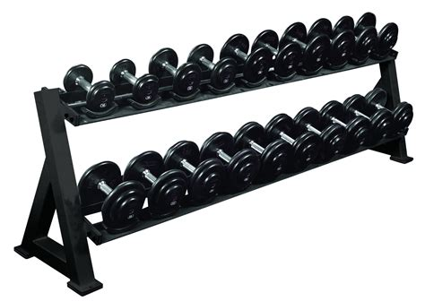 Rak Dumbbell 2 tier dumbbell rack w saddles equipment storage york barbell