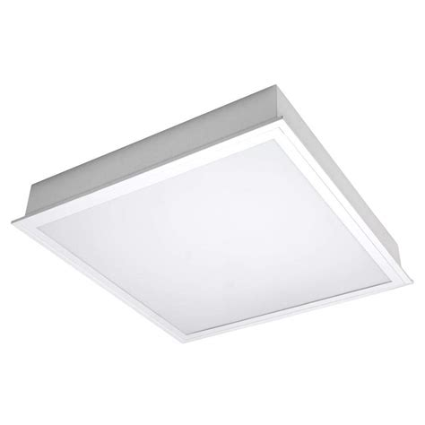 Tcp Lighting Fixtures Tcp 26324 2 X 2 45 Watt 120 Volt 3500k Dimming Led Troffer Fixture With Frosted White Opaque