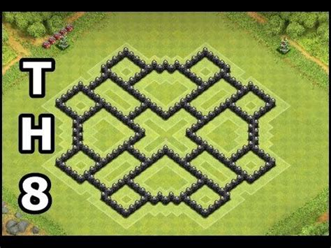 Best clash of clans town hall 8 farming base updated 4 mortars th8
