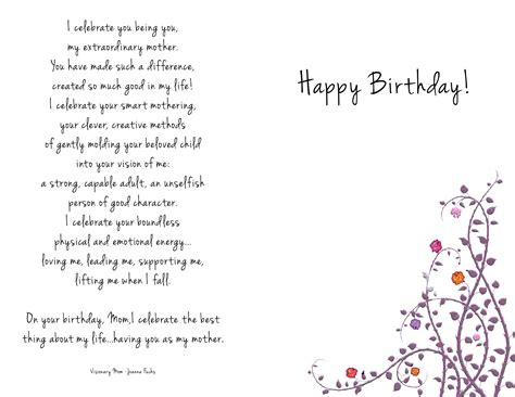 printable birthday cards for mom happy birthday mom coloring card images