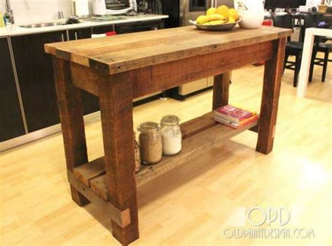 Easy Kitchen Island by 32 Simple Rustic Homemade Kitchen Islands Amazing Diy