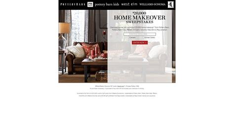pottery barn 20 000 home makeover sweepstakes