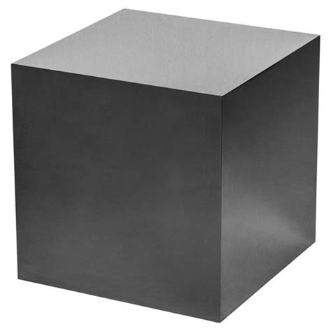 ajax modern classic black onyx cube side table kathy kuo