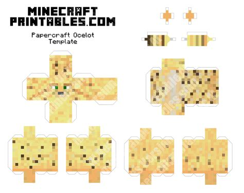 Minecraft Printable Paper Crafts - ocelot printable minecraft ocelot papercraft template