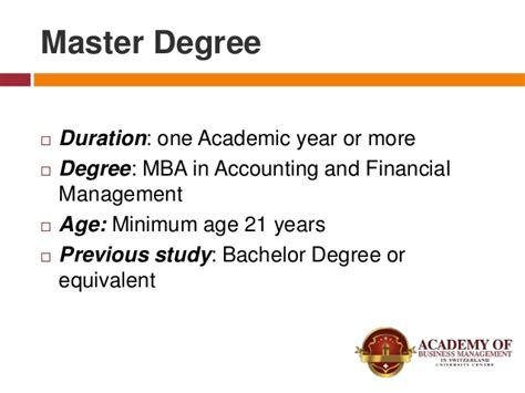 Mba In Finance Duration by Financial Management At Universities In Switzerland