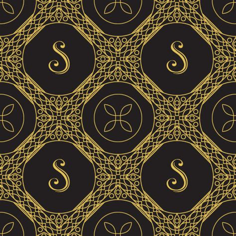 vector pattern luxury gold lineart seamless pattern luxury vector 03 vector