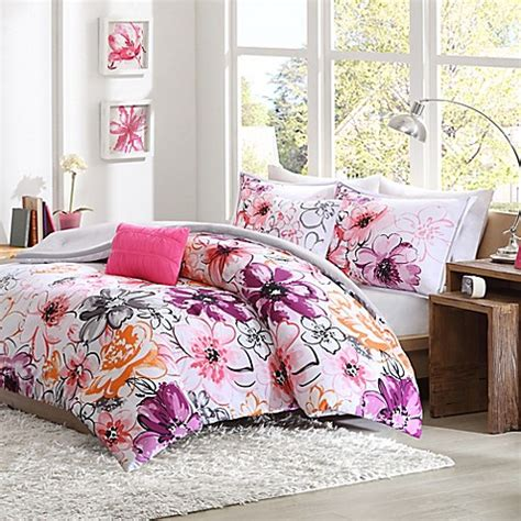 Buy Olivia Reversible Twin Twin Xl Comforter Set In Pink Bed Bath And Beyond Xl