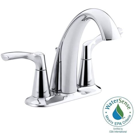 kohler mistos bathroom faucet kohler mistos 4 in centerset 2 handle water saving bathroom faucet in polished chrome