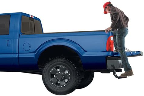 truck bed step lund innovation in motion bedstep retractable tailgate step