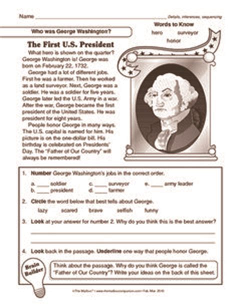 search results for free george washington worksheets george washington worksheets google search summer
