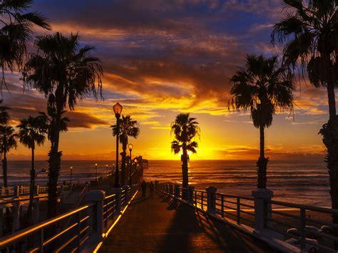 sunset   oceanside pier   north county  san