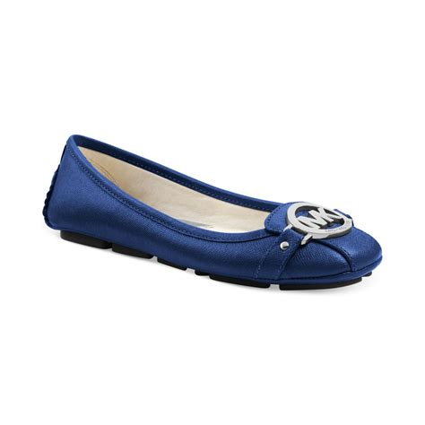 michael kors shoes fulton moc flats lyst michael kors michael fulton moc flats in blue
