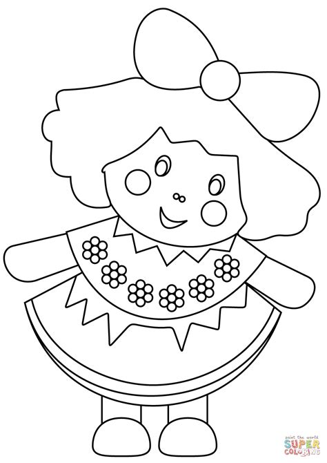 coloring doll doll coloring page free printable coloring pages