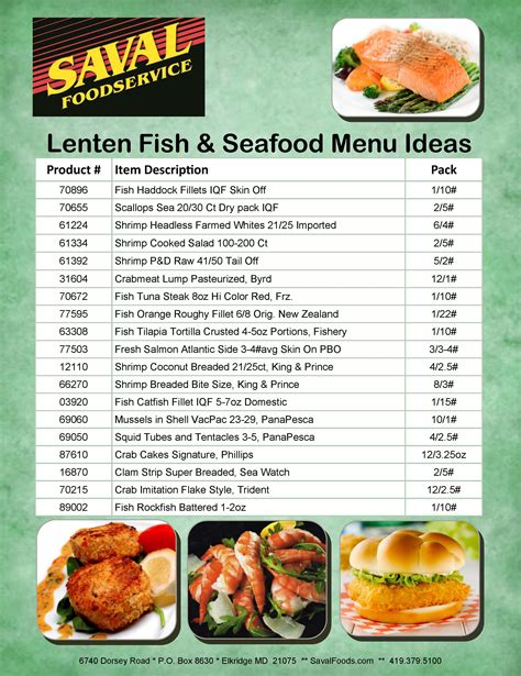 menu ideas lenten season seafood fish menu ideas saval foodservice