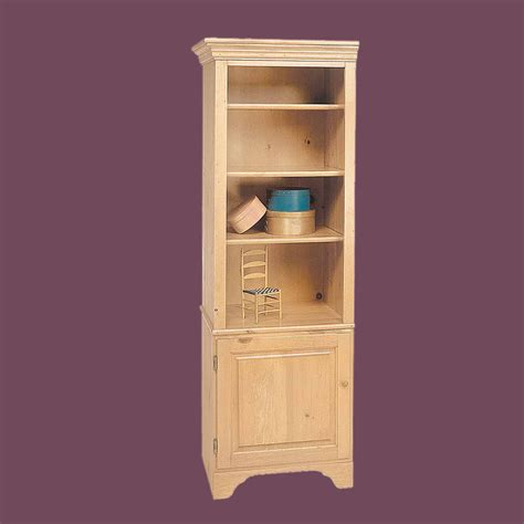 bookcase unfinished pine shaker kit 66 5 quot h