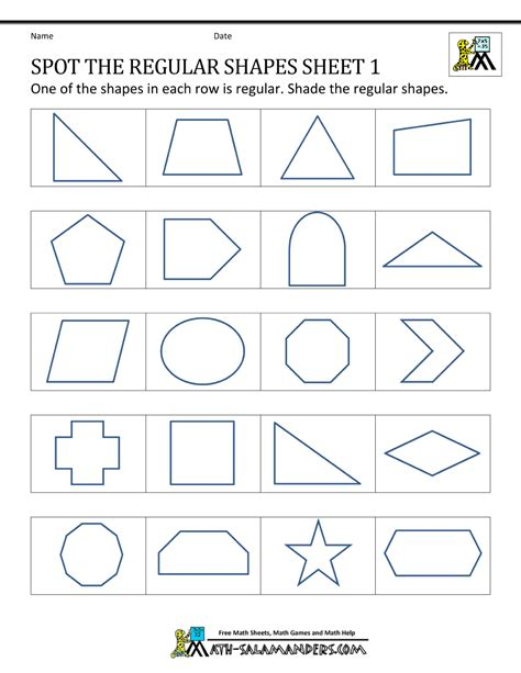 Polygon Shapes Worksheet by Worksheets Classifying Polygons Worksheet Opossumsoft