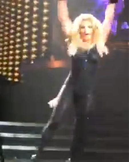 Britneys Falls Out by Hair Falls Out On Stage Ok Magazine