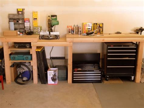 work bench storage pdf diy build a garage workbench plans download build