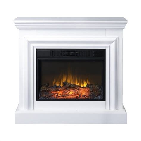 White Electric Fireplace Lowes by Homestar 38 Quot Wide Mantel White Electric Fireplace