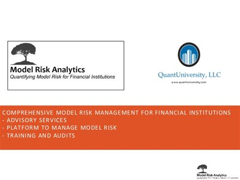 Babson Mba Data Analytics by A Framework Driven Approach To Model Risk Management Www