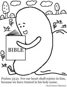 jelly bean reading bible coloring