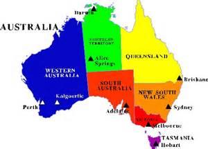 australian us map the economies of australia s states and territories july 2016