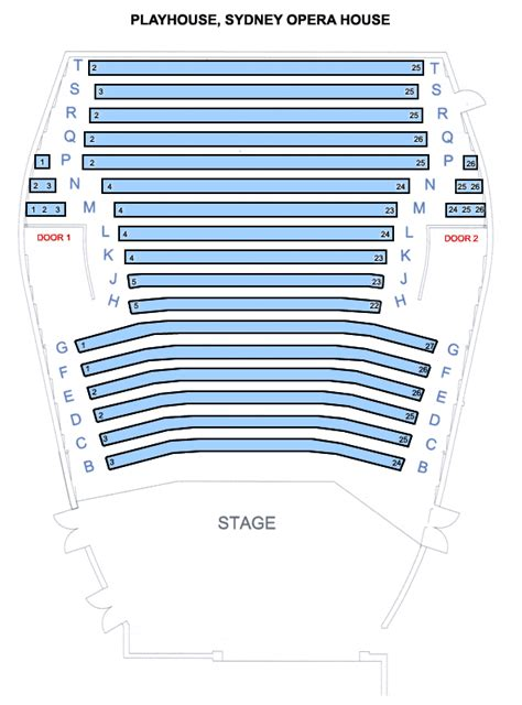 Sydney Opera House Seating Plan Pdf Playhouse Seating Plan Opera House Plans Free