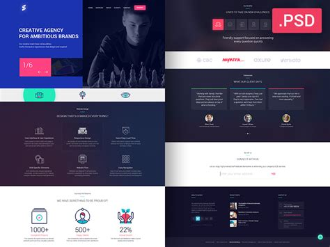 free css website templates for advertising agency free advertising agency website template psd