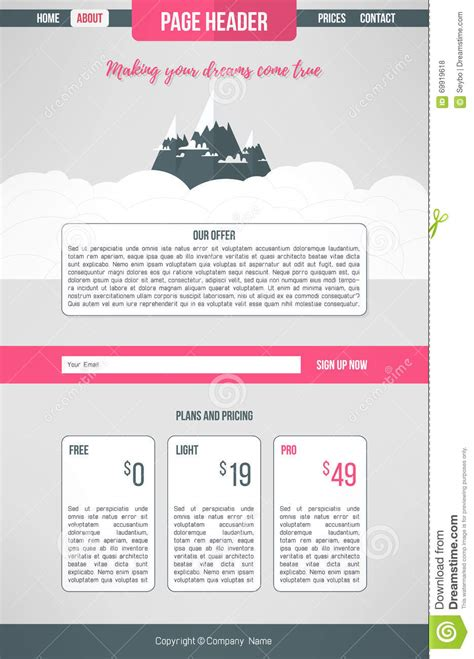 designing home page layout landing website template landing page design layout