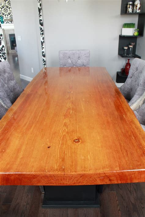 douglas fir dining table refined rustic furniture live edge wood slabs for sale