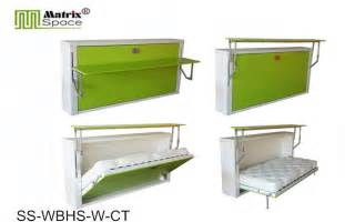 Folding wall bed with computer table