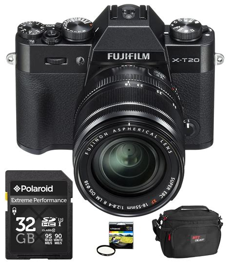 Fujifilm X T20 18 55mm Black by Fujifilm X T20 With 18 55mm And 3 Accessories