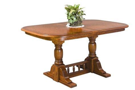 double pedestal dining room tables amish double pedestal innkeepers dining room table