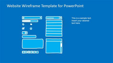Website Wireframe Template For Powerpoint Slidemodel What Is A Template In Powerpoint